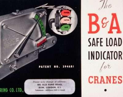 Publicité D'époque B&A Indicateur De Charge Sécuritaire (Safe-Load)